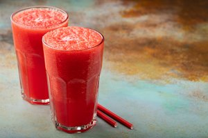 Watermelon slushie summer refreshing