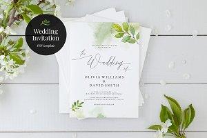 Wedding Invitation Template, Elisa