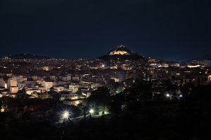 Lykavitos at night.