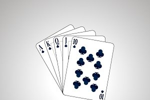 Royal Flush poker combination