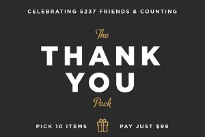 Thank You Pack | Get 10 for $99