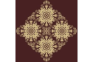 Damask Vector Pattern. Orient