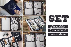 School photo album template