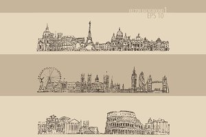Set of cities (London, Paris, Rome)