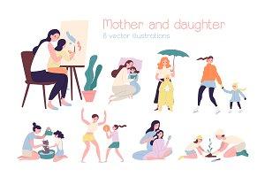 Motherhood mother and daughter