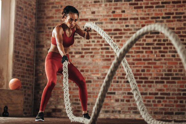 Sports Stock Photos: Jacob Lund Photography - Fat burning workout in fitness