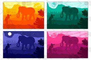 Photographer photographs elephant