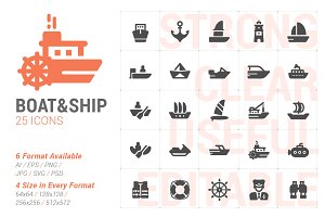 Boat & Ship Filled Icon