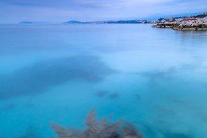 Sunrise view on adriatic sea