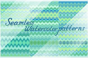 15 seamless watercolor patterns