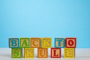 Back to School spelled wrongly in