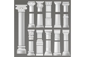 Ancient column vector historical