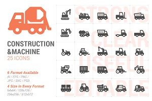 Construction & Machine Filled Icon