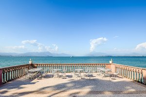 Panoramic view of Lake Lake Garda in
