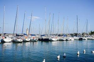 Pier at Desenzano on Lake Garda on a