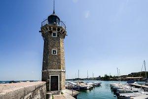 Lighthouse at Desenzano on Lake Gard