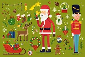 Christmass Flat Vector Essentials