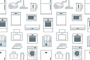 pattern with Household Appliances