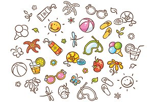 Summer Things Drawing Set