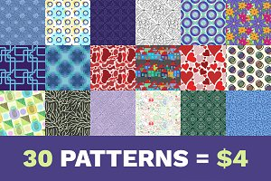 30 amazing patterns for $4