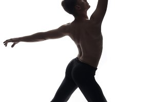 rear view, one young man back, balle