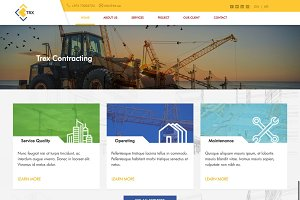 Trex Construction HTML PSD Template