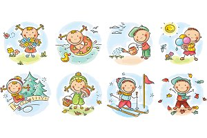 Kids activities during the seasons