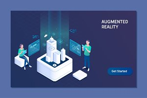 Augmented reality concept. Business