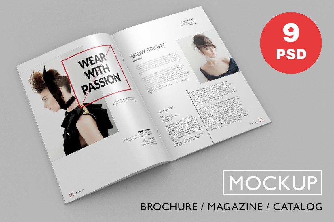 brochure magazine psd mock ups product mockups creative market