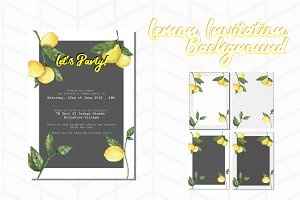 Lemon Invitation Background 2