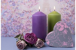 Valentines day or wedding. Candles