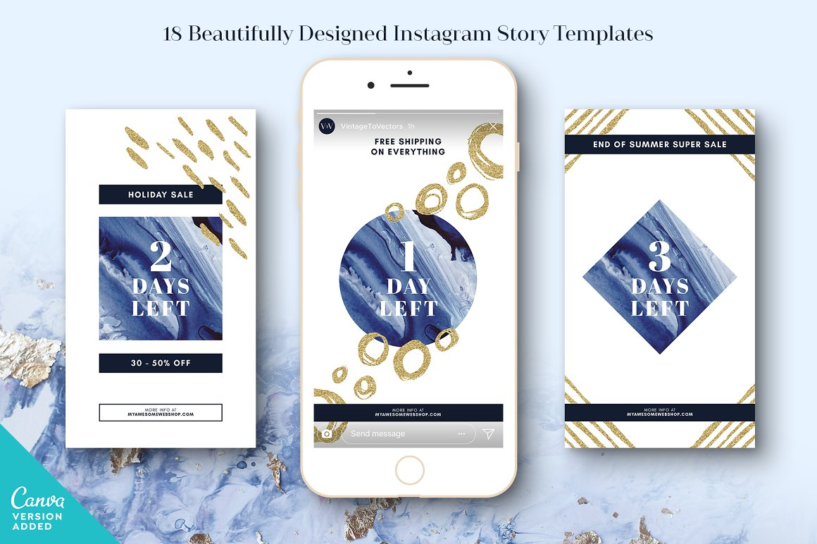INDIGO Instagram Story Templates