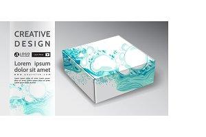 box abstract vector energy design