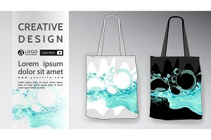 bag Mock Up water pattern vector