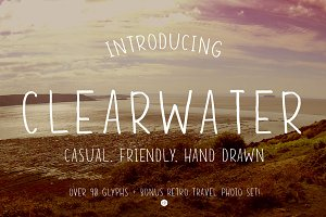 Clearwater - Hand Drawn Font