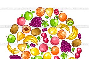 Backgrounds with fruits.