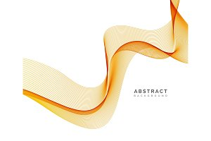 Abstract vector background, orange