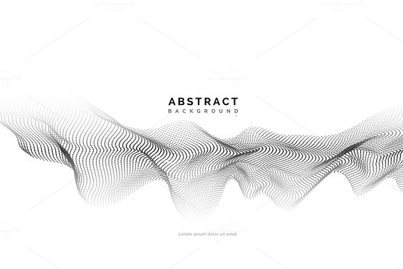 Abstract background with dots lines