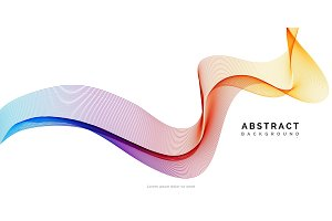 Abstract vector background, spectrum