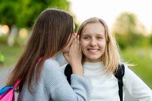 Two girls schoolgirl girlfriends