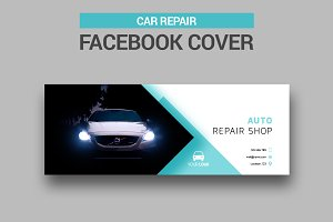 Car Repair Facebook Cover