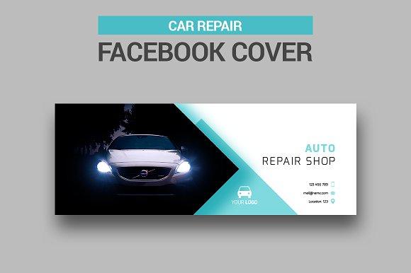 Car Repair Facebook Cover