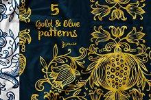 5 Hand-drawn patterns & ornaments