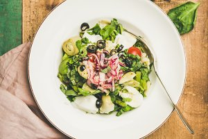 Fresh green summer salad with
