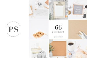 66 photos - Neutral Photo Bundle