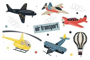 Seamless patterns with air transport