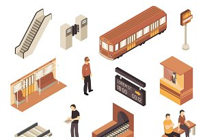 Subway isometric collection