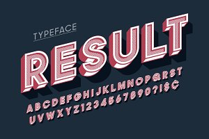 Vitage 3d display font design