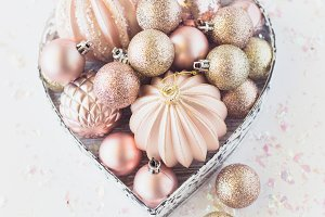 Stock Photo - Pink & Gold Christmas