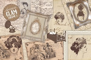 Antique Ephemera & Illustrations Set
